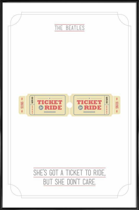 She's Got a Ticket to Ride ingelijste poster
