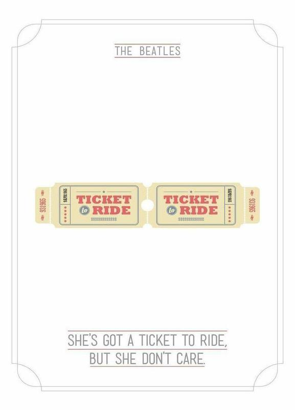 She's Got a Ticket to Ride canvas doek