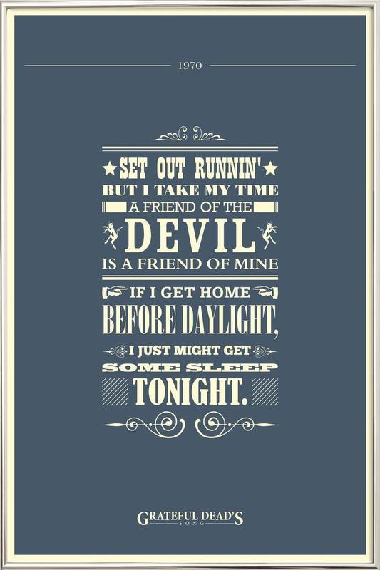 Friend of the Devil Poster in Aluminium Frame