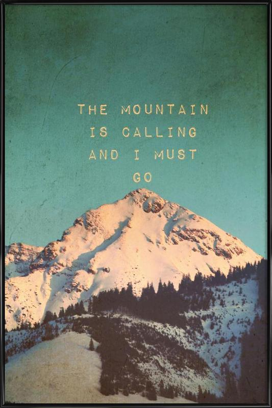 Mountain Is Calling ingelijste poster