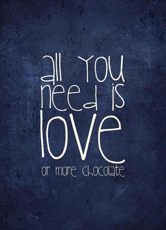 All you need is love & chocolate -Leinwandbild