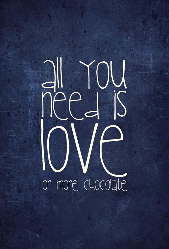All you need is love & chocolate -Acrylglasbild