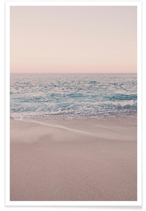 Rosegold Beach Morning Poster