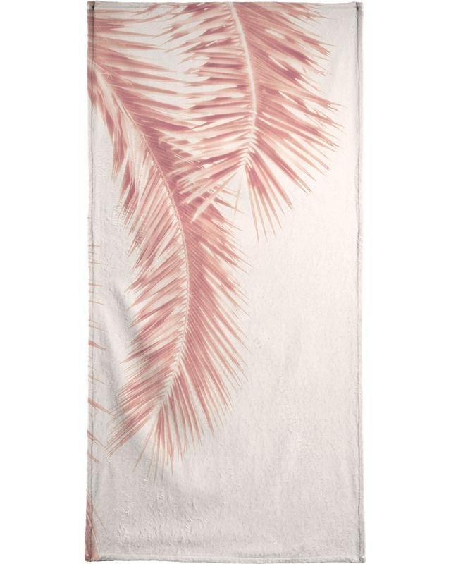 Rose Palm Leaves Bath Towel