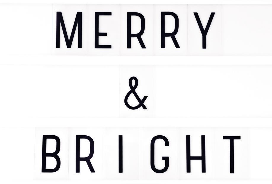 Merry X-Mas Lightbox -Alubild