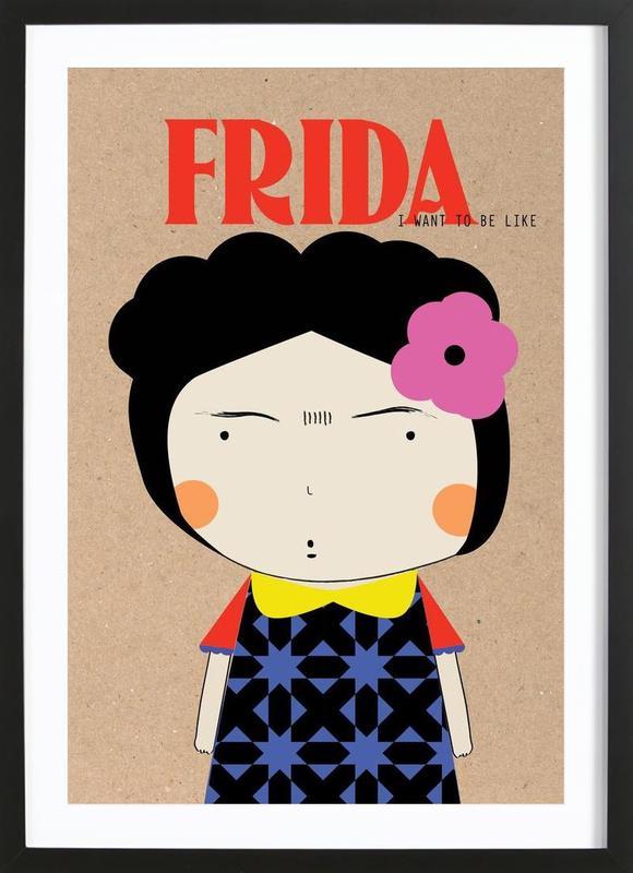 Little Frida -Bild mit Holzrahmen