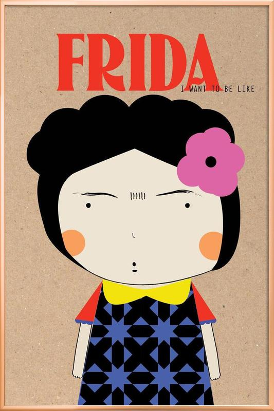 Little Frida -Poster im Alurahmen