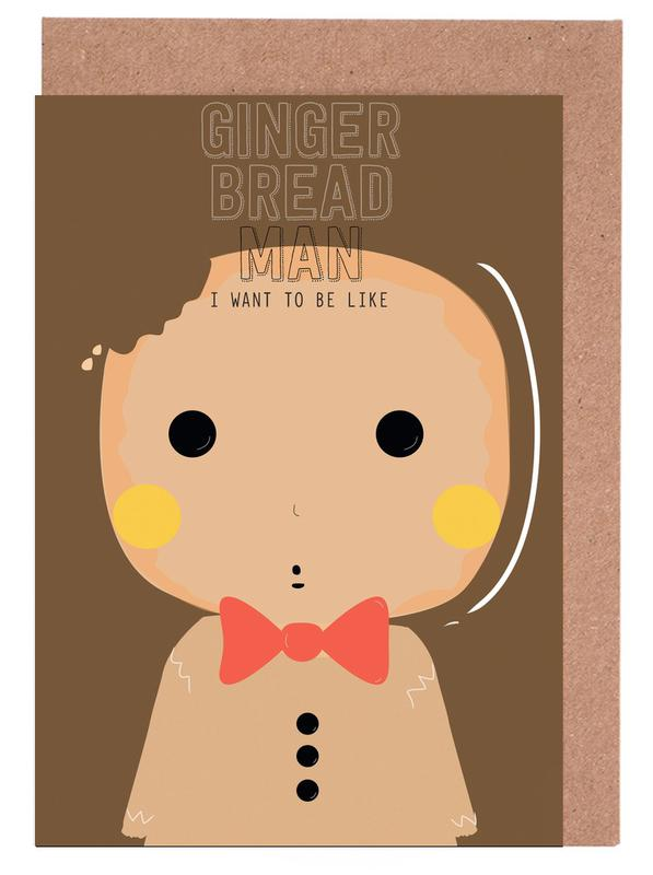 Little Gingerbread Greeting Card Set