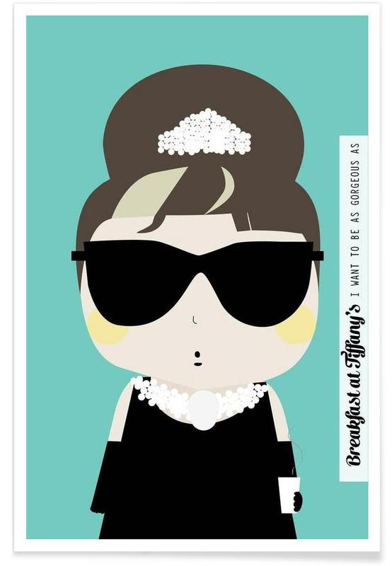 Little Breakfast at Tiffany's affiche