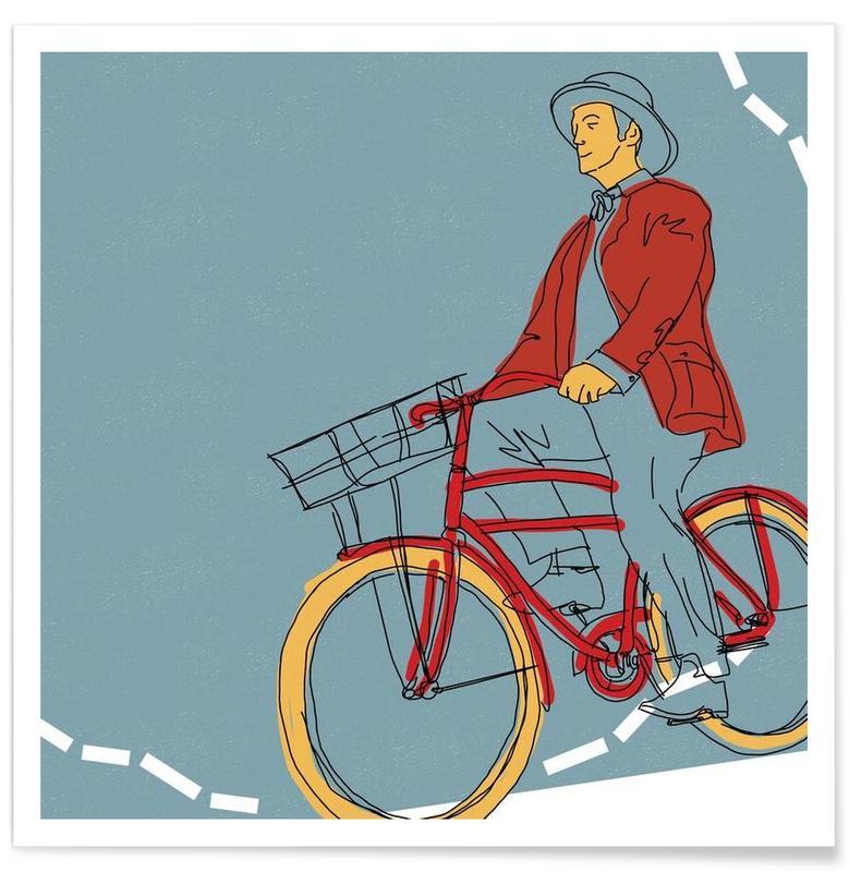 Bike Breakfast Poster
