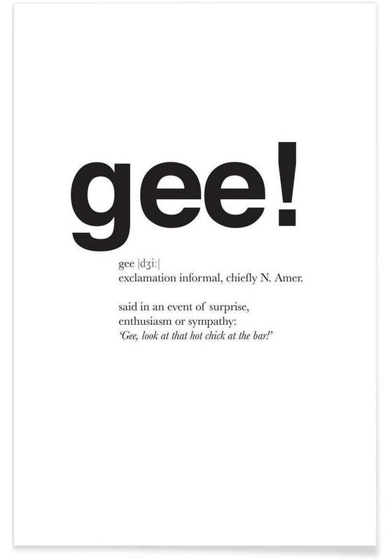 The gee interjection -Poster