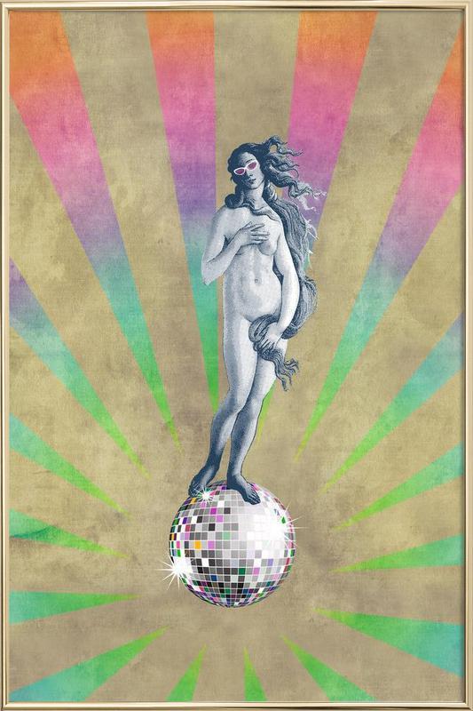 Disco Venus Poster in Aluminium Frame