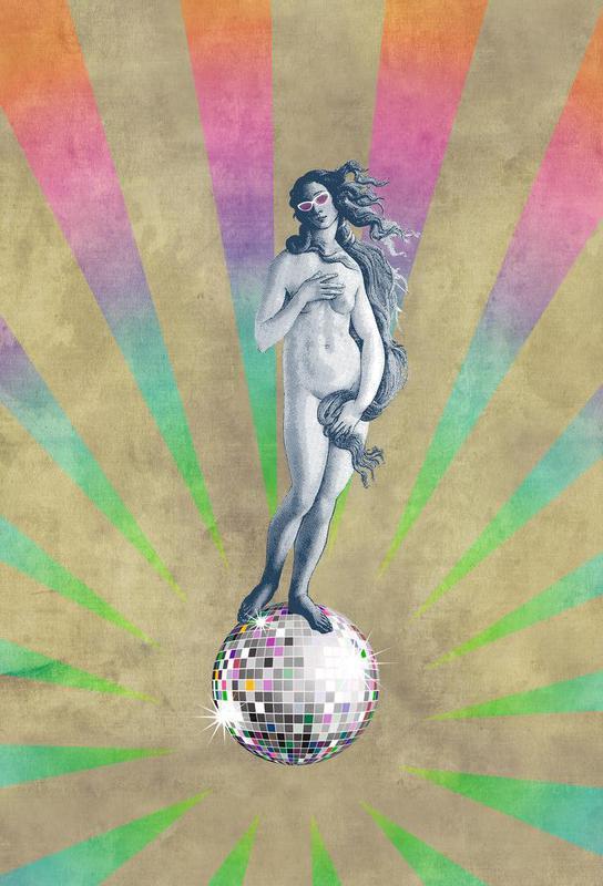 Disco Venus Aluminium Print