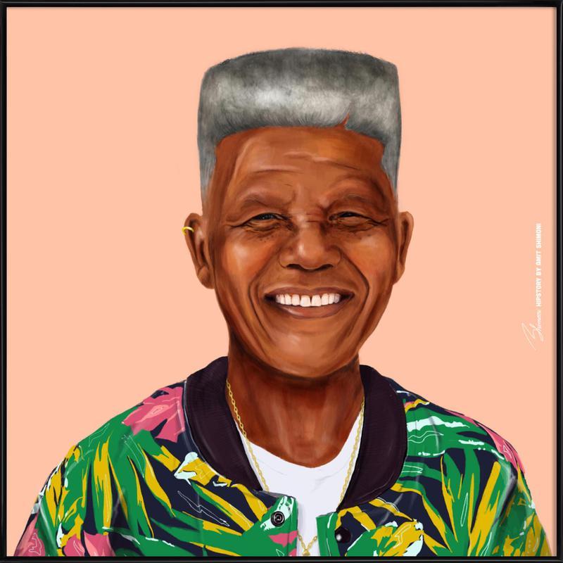 Mandela -Bild mit Kunststoffrahmen