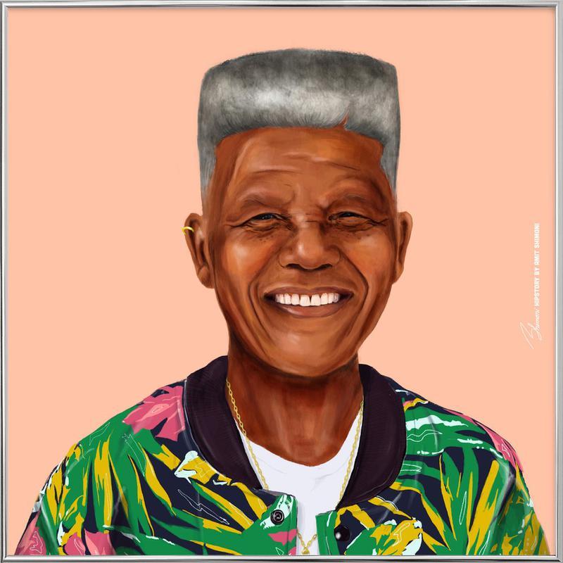Mandela -Poster im Alurahmen
