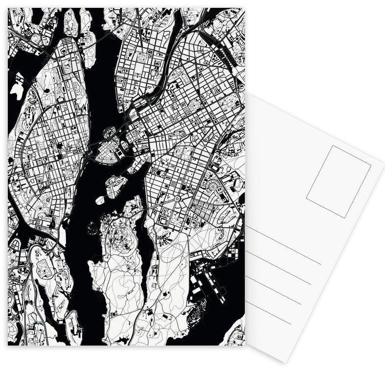 Stockholm Black & White -Postkartenset