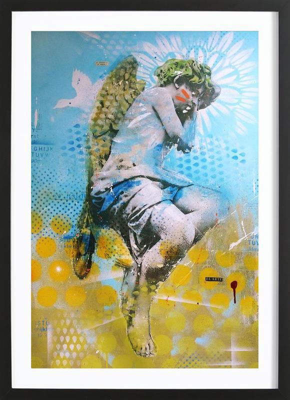 Angelito affiche sous cadre en bois