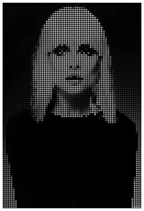 Heart Of (Black Version) Aluminium Print