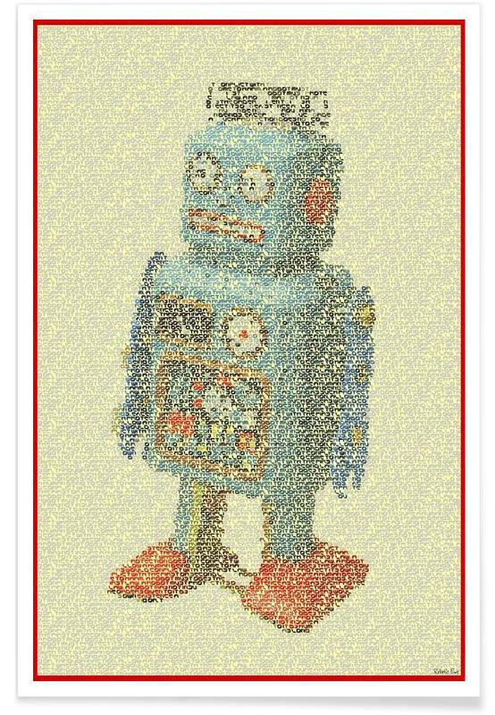 Laws Of Robotics-Pointillismus -Poster