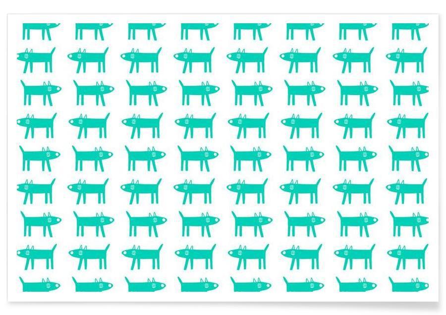 dog pattern 3 -Poster