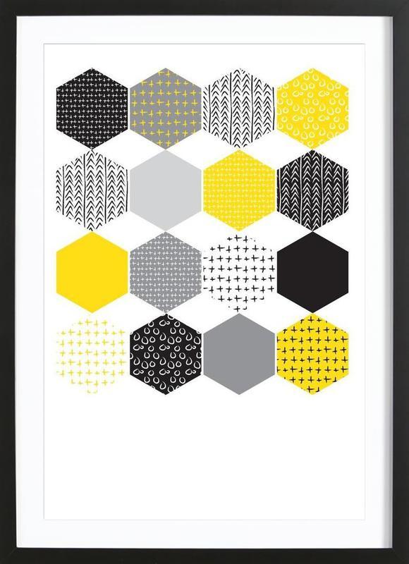 Yellowhex -Bild mit Holzrahmen