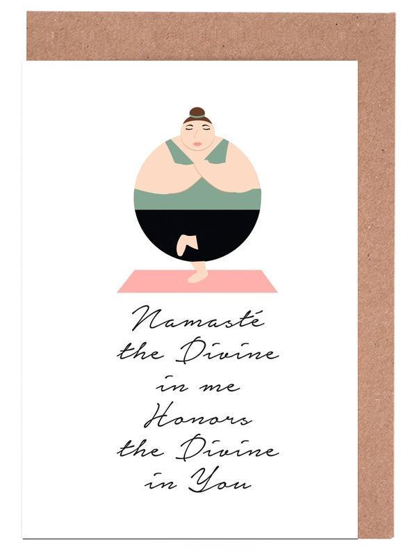 Yoga 1 cartes de vœux