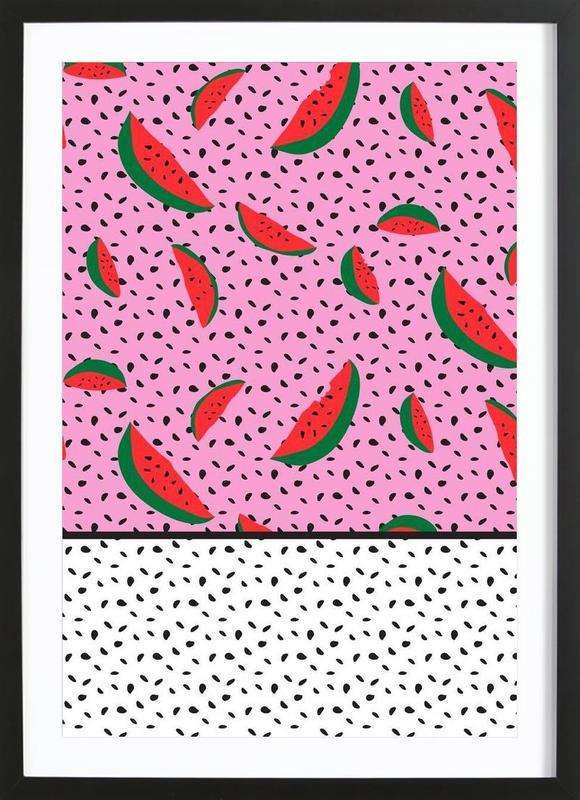 Spotted Watermelons -Bild mit Holzrahmen