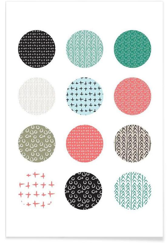 Patterned dots Poster