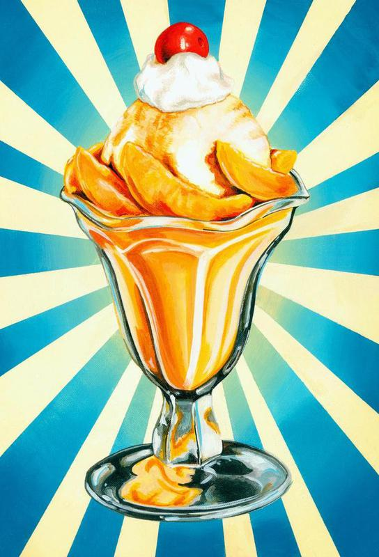 Peach Sundae -Acrylglasbild