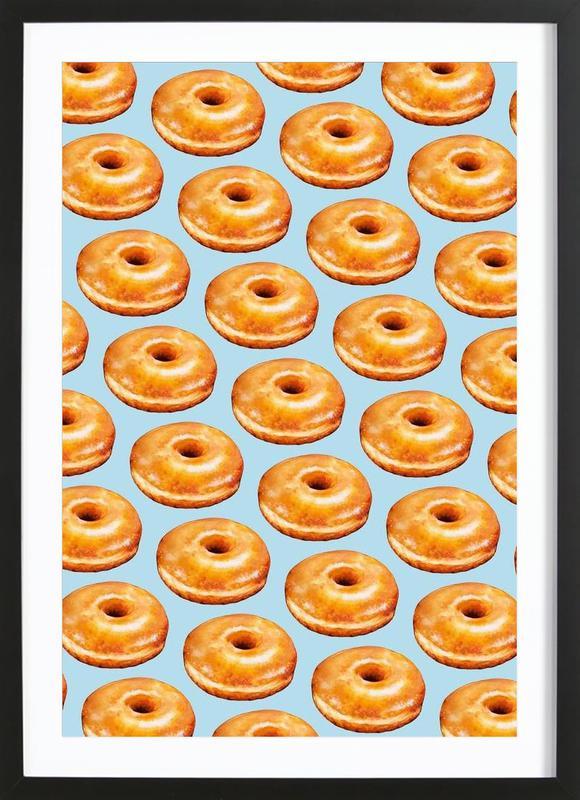Glazed Doughnut Pattern Framed Print