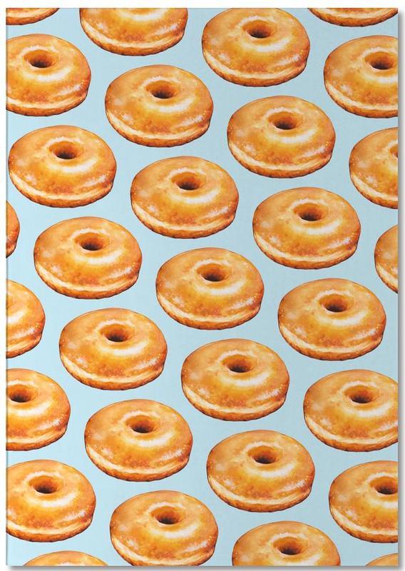 Glazed Doughnut Pattern -Notizblock