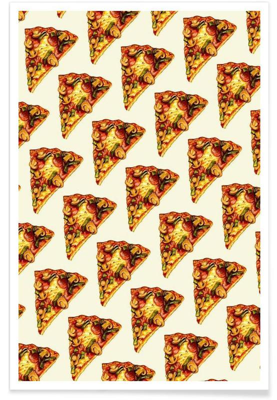 Pizza Pattern -Poster