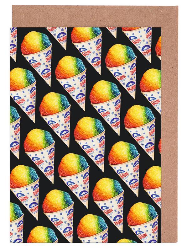 Snow Cone Pattern cartes de vœux