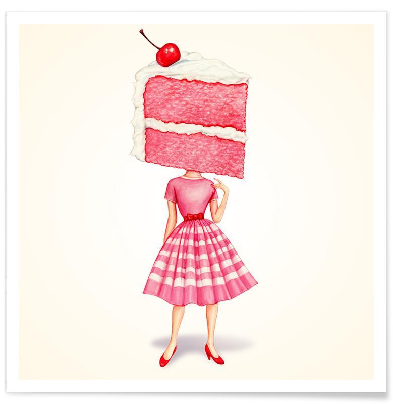 Cake Heads Cherry -Poster