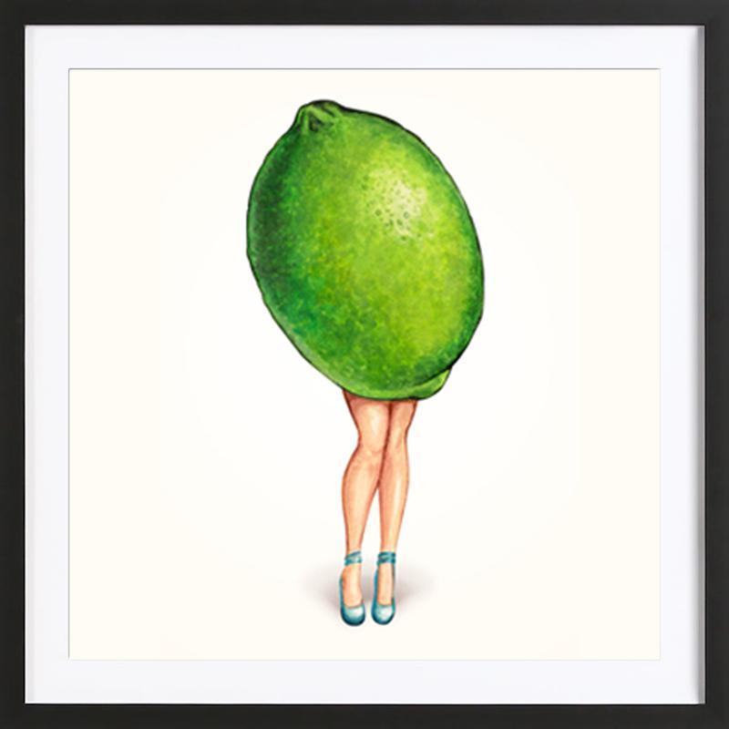 Fruit Girls Lime ingelijste print
