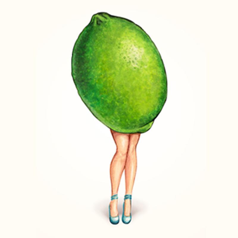 Fruit Girls Lime acrylglas print