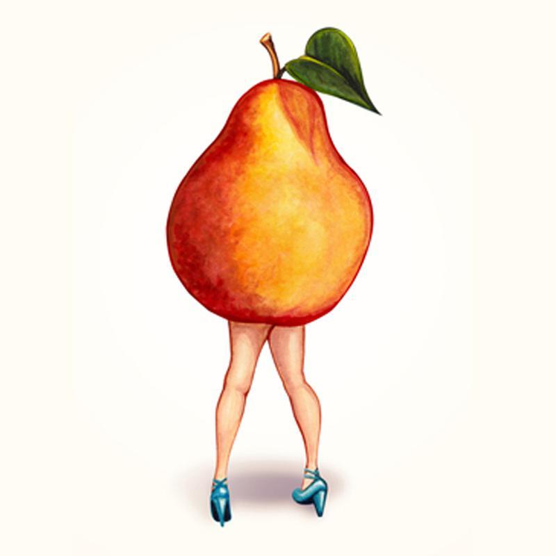 Fruit Girls Pear canvas doek