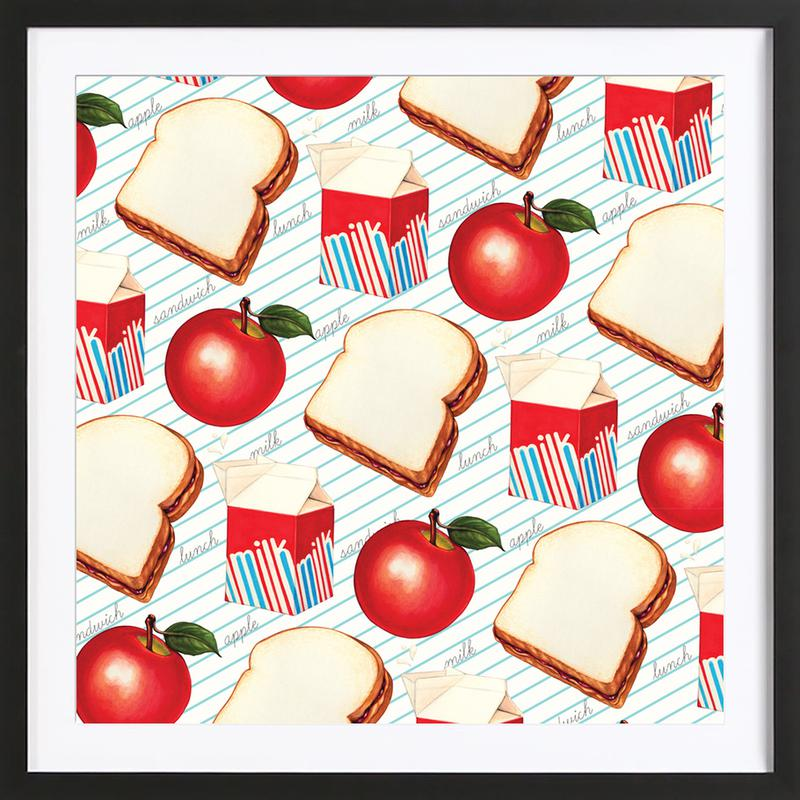 Lunch Patterns Lunch Ruled Framed Print