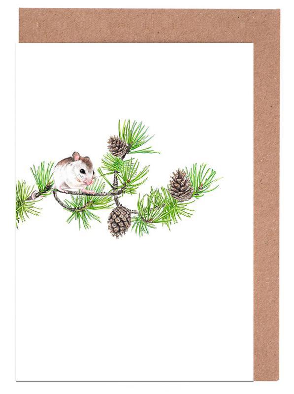 Christmas Mouse Greeting Card Set