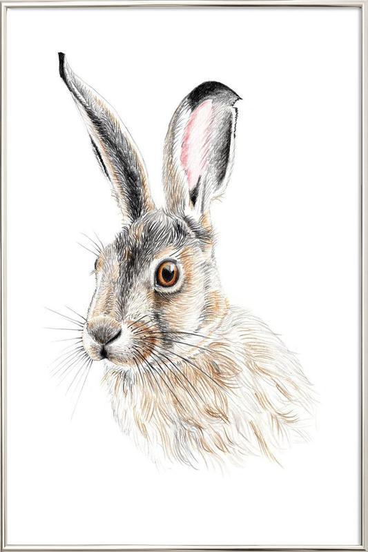 Rabbit Poster in Aluminium Frame
