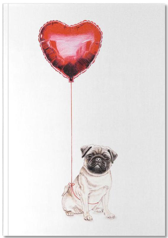 Pug & Balloon Notebook