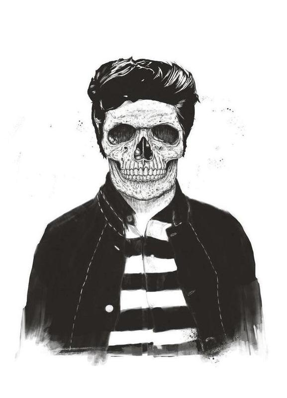 Death Fashion Canvas Print