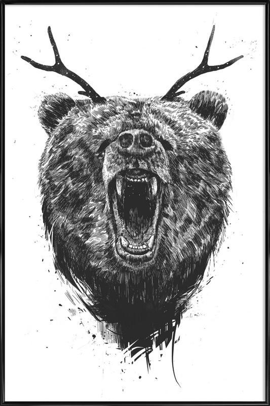 Angry Bear ingelijste poster