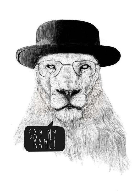 Say my name Canvas Print