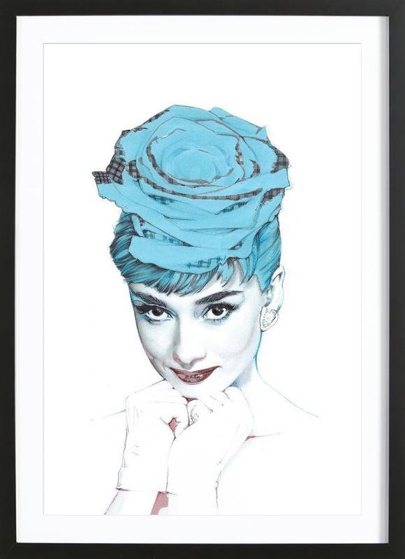 Audrey -Bild mit Holzrahmen