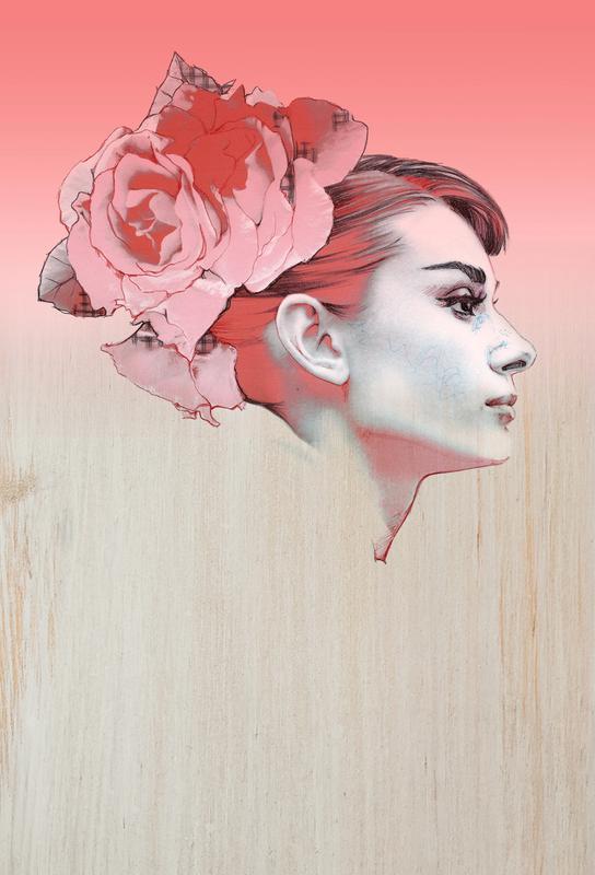 Audrey III -Acrylglasbild