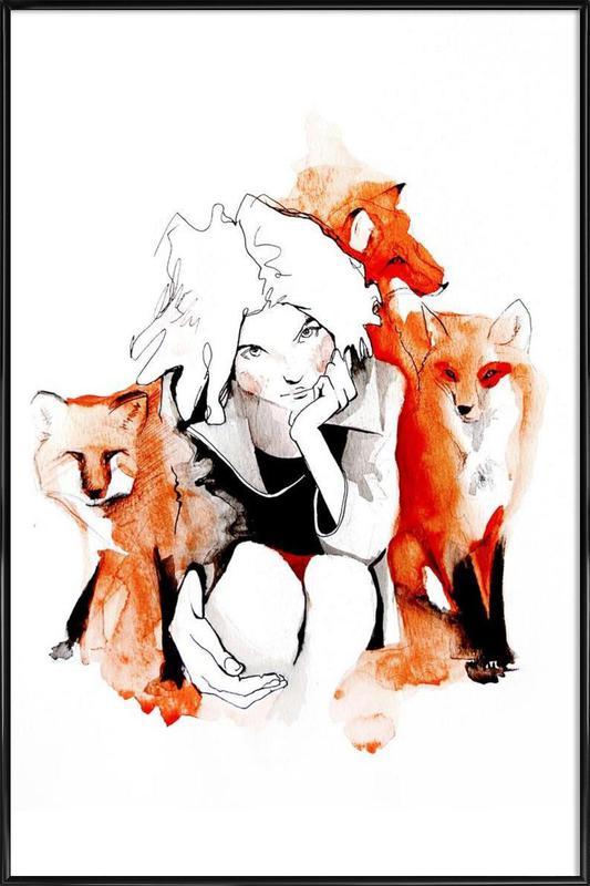 Foxy Framed Poster