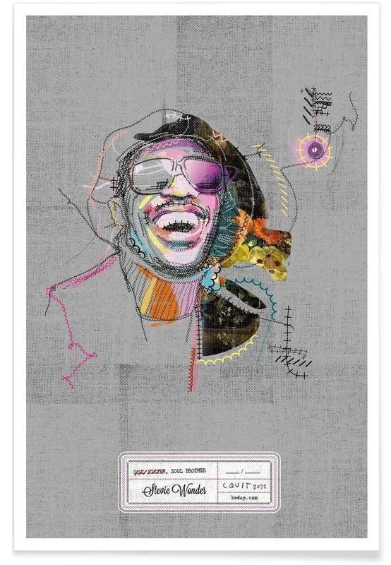 Stevie Portrait Poster