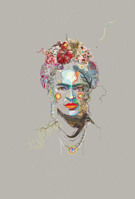 Frida 3 Aluminium Print