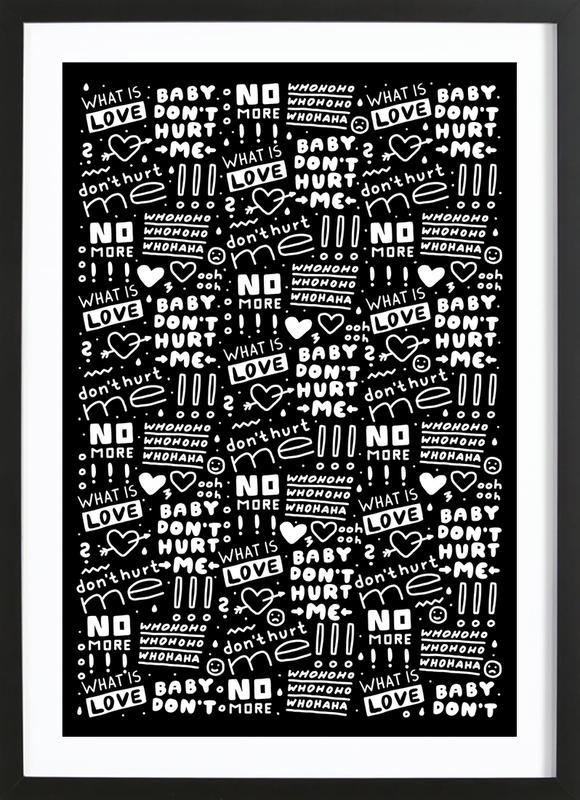 What Is Love -Bild mit Holzrahmen